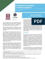 Misoprostol Para El Tratamiento Del Aborto Incompleto en Argentina