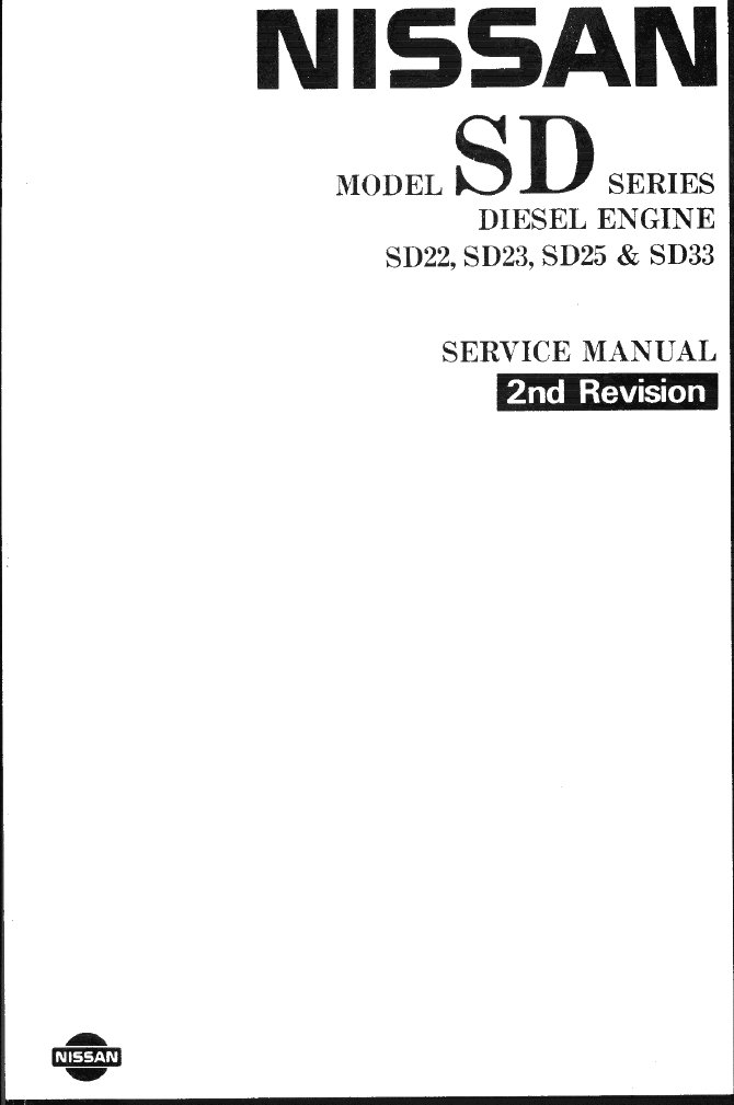 Nissan Xd Series Diesel Engines Service Manual 2nd Revision