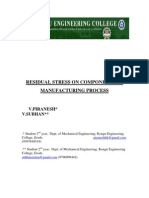 Residual Stress on Components of Manufacturing Process