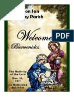 Mission San Luis Rey Parish Bulletin for 12-25-2011