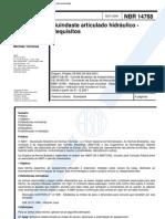 Abnt - Nbr 14768 - 2001 - Guindaste Articulado Hidraulico - Requisitos