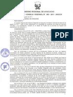 Acuerdo de Consejo Regional Nº 063