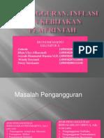PPT MAKRO Pengangguran Inflasi Dan Kebijakan Pemerintah