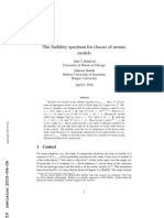John T. Baldwin and Saharon Shelah- The Stability spectrum for classes of atomic models