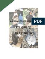 Animales peruanos en peligro de extinción