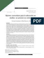 Aportes Curriculares Para La Educacion en Medios Un Proceso en Construccion