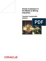 Oracle Paper on Metal and Mining Industry