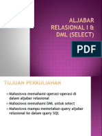Aljabar Relasional I & DML (Select)