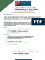 Online CFA Level1 Coaching June 2012