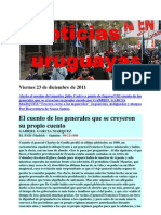 Noticias Uruguayas Viernes 23 de Diciembre de 2011