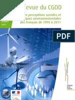 pratiques environnementales des français 1995-2011.