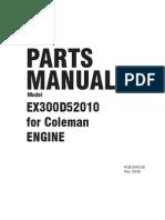 Model EX30 Parts Manual