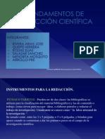 FUNDAMENTOS DE REDACCIÓN CIENTÍFICA