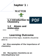 1.1&1.2 (Atoms & Molecules) Student Copy