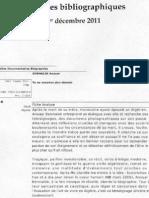 """Anouar Benmalek et son livre """"Tu Ne Mourras Plus Demain"""" dans   Notes Bibliographiques Dec2011"""