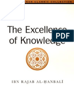 The Excellence of Knowledge - Imam ibn Rajab al-Hanbali