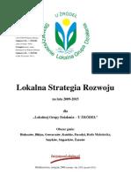 Lokalna Strategia Rozwoju Na Lata 2009-2015