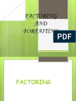 Factoring and ing