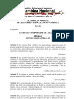 Ley de Gestion Integral de La Basura