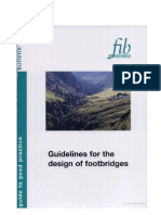 FIB-Guidelines for the Design of Footbridges