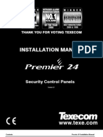 Texecom Premier 24 Installation Manual