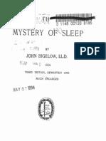 John Bigelow THE MYSTERY OF SLEEP New York 1905