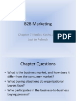 B2B Marketing Recall