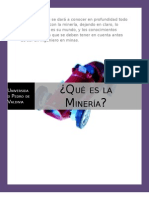 Qué es la Mineria