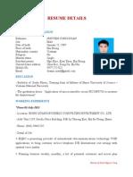 Resume Details