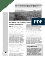 Fall 2003 Muir Heritage Land Trust Newsletter