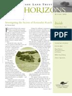 Autumn 2006 Horizons, Muir Heritage Land Trust Newsletter