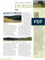 Autumn 2008 Horizons, Muir Heritage Land Trust Newsletter