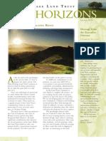 Spring 2011 Horizons, Muir Heritage Land Trust Newsletter