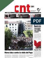 CNT, nº 381, agosto-septiembre 2011