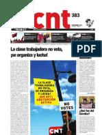 CNT, nº 383, noviembre 2011