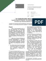 Im institutionellen Nessoshemd forensisch-psychiatrischer Therapie
