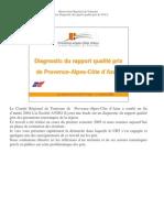 Synthese Des Resultats Du Diagnostic Du Rapport Qualite Prix de PACA