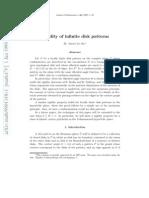 Zheng-Xu He- Rigidity of infinite disk patterns