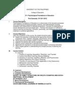Edfd211 Syllabus