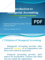 Managerial Accounting 1 (Cost Accounting)