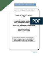 Documento Base de Contratación  Sindicato Nueva kanan - Obras