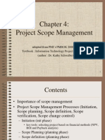 PMBOK Chapter 4 - Scope