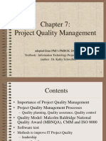 PMBOK Chapter 7 - Quality