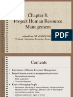 Pmbok Chapter 8 - Hrm