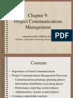 PMBOK Chapter 9 - Communication