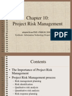 PMBOK Chapter 10 - Risk