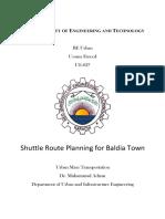 NED Shuttle Route Planning for Baldia Town