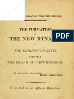 Henri Christophe--The Formation of the New Dynasty of the Kingdom of Hayti, Formerly the Island of Saint Domingo (1811)