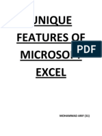 Unique Features of Microsoft Excel