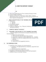 Ojt - Final Written Report Format